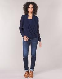 tekstylia Damskie Jeansy straight leg Le Temps des Cerises PULP REGULAR Niebieski