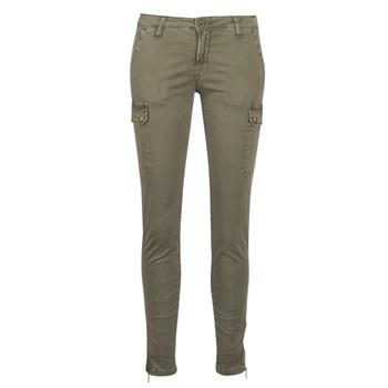tekstylia Damskie Spodnie bojówki Le Temps des Cerises ARMY Kaki