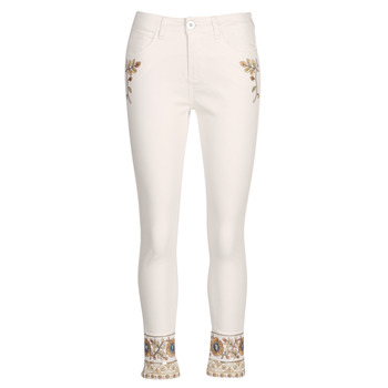 tekstylia Damskie Jeansy straight leg Desigual SARI WHITE Marine