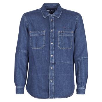 tekstylia Męskie Koszule z długim rękawem Diesel D FRED Niebieski