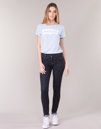 tekstylia Damskie Jeansy skinny Levi's 721 HIGH RISE SKINNY The / Nine
