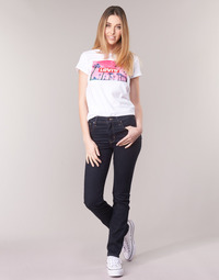 tekstylia Damskie Jeansy straight leg Levi's 724 HIGH RISE STRAIGHT The / Nine