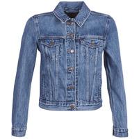 tekstylia Damskie Kurtki jeansowe Levi's ORIGINAL TRUCKER Niebieski / Medium