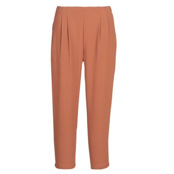tekstylia Damskie Spodnie z lejącej tkaniny / Alladynki See U Soon GARAGACI Ocre