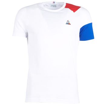tekstylia Męskie T-shirty z krótkim rękawem Le Coq Sportif ESS Tee SS N°10 M Biały / Czerwony / Niebieski
