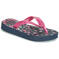 Buty Dziewczynka Japonki Havaianas KIDS FLORES Marine / Różowy