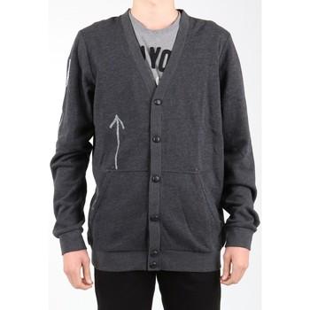 tekstylia Męskie Swetry rozpinane / Kardigany Reebok Sport Bluza  Bas Revenge SS Black K11904 szary