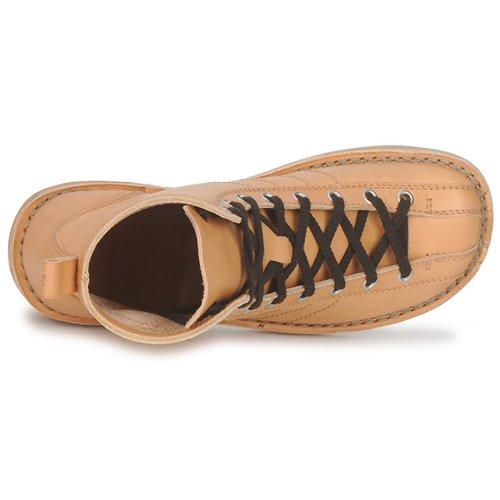 Swedish Hasbeens Vintage Bowling Boot Beżowy - Bezpłatna Dostawa- Buty Za Kostkę Damskie 85450 Najniższa Cena
