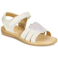 Buty Dziewczynka Sandały Citrouille et Compagnie JAFILOUTE Biały
