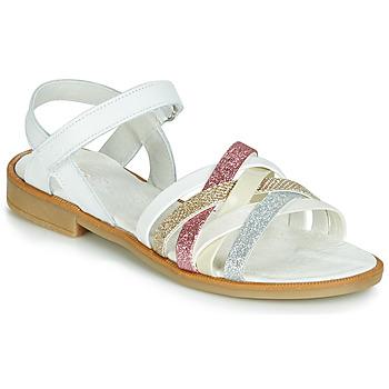 Buty Dziewczynka Sandały Citrouille et Compagnie JARILOU Biały
