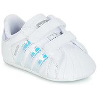 Buty Dziewczynka Trampki niskie adidas Originals SUPERSTAR CRIB Biały