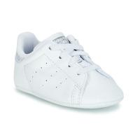 Buty Dziewczynka Trampki niskie adidas Originals STAN SMITH CRIB Biały
