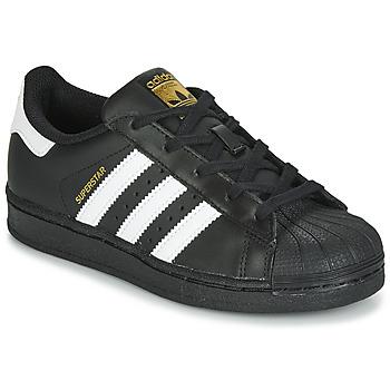 Buty Dziecko Trampki niskie adidas Originals SUPERSTAR C Czarny / Biały