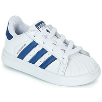 Buty Dziecko Trampki niskie adidas Originals SUPERSTAR EL Biały / Niebieski