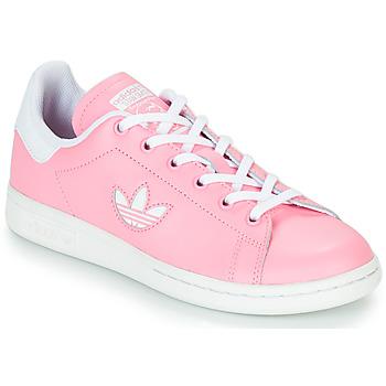 Buty Dziewczynka Trampki niskie adidas Originals STAN SMITH J Różowy