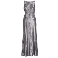 tekstylia Damskie Sukienki długie Lauren Ralph Lauren SLEEVELESS EVENING DRESS GUNMETAL Szary / Srebrny