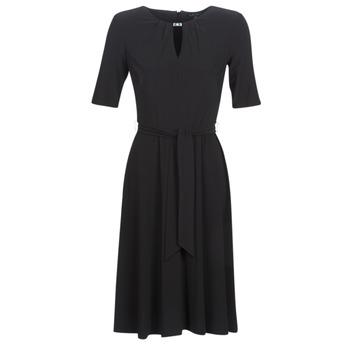 tekstylia Damskie Sukienki krótkie Lauren Ralph Lauren 3/4 SLEEVE  JERSEY DAY DRESS Czarny