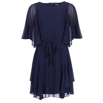 tekstylia Damskie Sukienki krótkie Lauren Ralph Lauren NAVY-3/4 SLEEVE-DAY DRESS Marine
