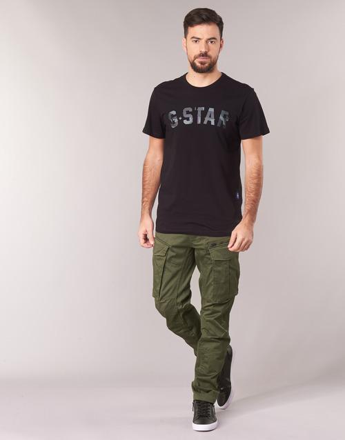 tekstylia Męskie Spodnie bojówki G-Star Raw ROVIC ZIP 3D STRAIGHT TAPERED Kaki