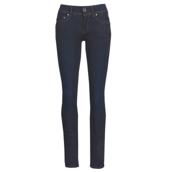 tekstylia Damskie Jeansy straight leg G-Star Raw MIDGE SADDLE MID STRAIGHT Niebieski / Dark