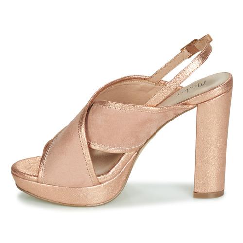 Menbur Villalba Różowy / Gold - Bezpłatna Dostawa- Buty Sandały Damskie 23730 Najniższa Cena