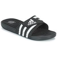 Buty klapki adidas Performance ADISSAGE Czarny / Biały