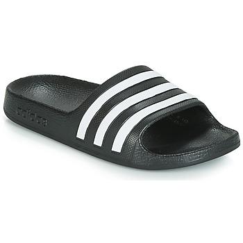 Buty Dziecko klapki adidas Performance ADILETTE AQUA K Czarny / Biały