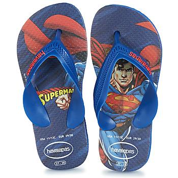 Buty Chłopiec Japonki Havaianas KIDS MAX HEROIS Niebieski