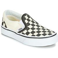 Buty Dziecko Tenisówki Vans CLASSIC SLIP-ON Czarny / Biały