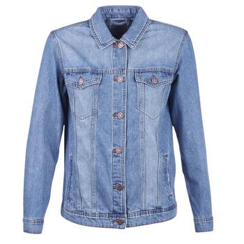 tekstylia Damskie Kurtki jeansowe Noisy May NMOLE Niebieski / Medium