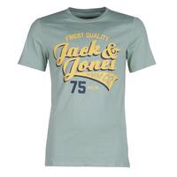 tekstylia Męskie T-shirty z krótkim rękawem Jack & Jones JJELOGO Zielony