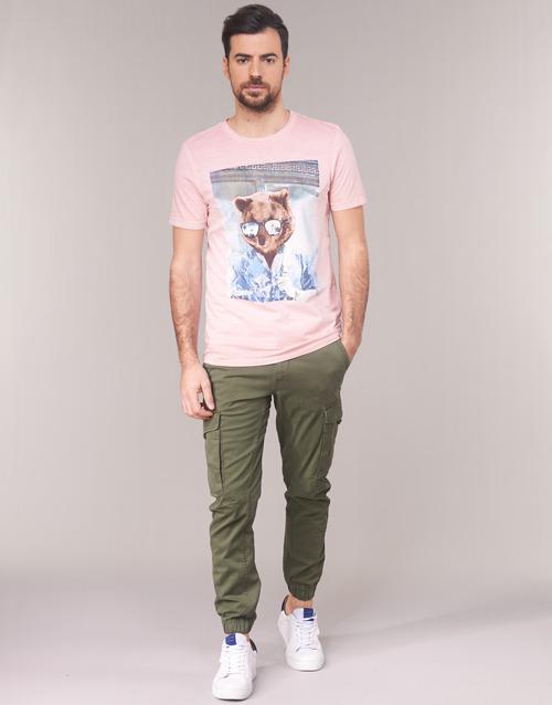 tekstylia Męskie Spodnie bojówki Jack & Jones JJIPAUL Kaki