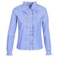tekstylia Damskie Koszule Maison Scotch LONG SLEEVES SHIRT Niebieski / Clair
