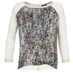 tekstylia Damskie Swetry One Step TWIST ECRU / Szary