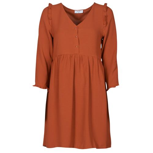 tekstylia Damskie Sukienki krótkie Betty London JOELIE Brązowy