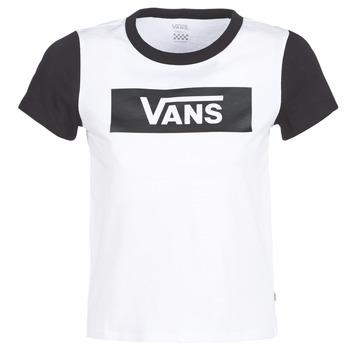 tekstylia Damskie T-shirty z krótkim rękawem Vans V TANGLE RANGE RINGER Biały