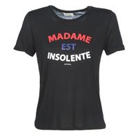 tekstylia Damskie T-shirty z krótkim rękawem Kaporal FACTO Czarny