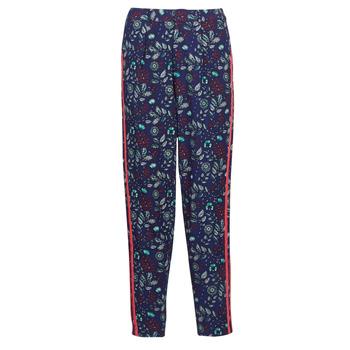 tekstylia Damskie Spodnie z lejącej tkaniny / Alladynki Kaporal BABY Marine / Wielokolorowy