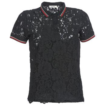tekstylia Damskie Koszulki polo z krótkim rękawem Kaporal BRIKS Czarny