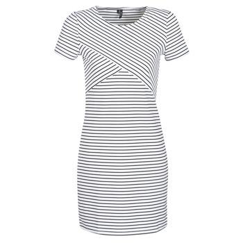 tekstylia Damskie Sukienki krótkie Vero Moda VMVIGGA Biały / Czarny