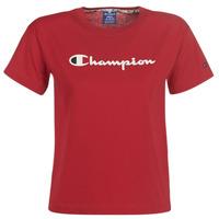 tekstylia Damskie T-shirty z krótkim rękawem Champion 111393-RIR Bordeaux