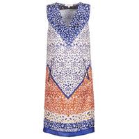 tekstylia Damskie Sukienki krótkie Derhy FORTERESSE Biały / Niebieski / Pomarańczowy