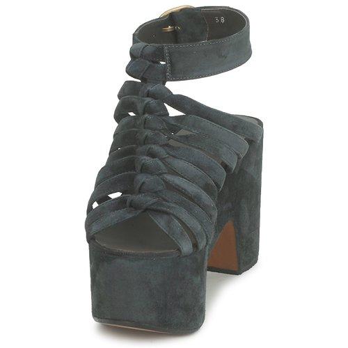 12676  Michel Perry  sandały  damskie  dark