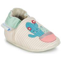 Buty Dziewczynka Kapcie niemowlęce Robeez CACTUS Ecru / Różowy