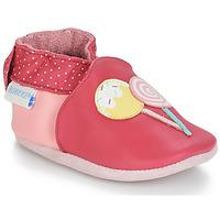 Buty Dziewczynka Kapcie niemowlęce Robeez FUNNY SWEETS Różowy / Biały