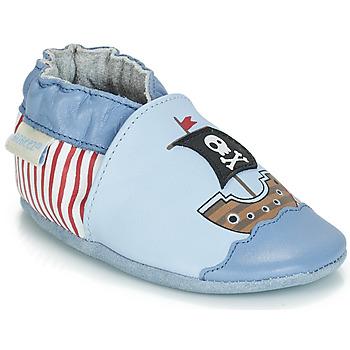 Buty Chłopiec Kapcie niemowlęce Robeez PIRATE'S BOAT Niebieski