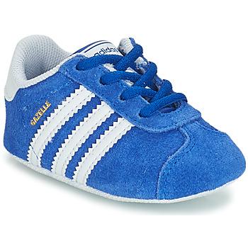 Buty Dziecko Trampki niskie adidas Originals GAZELLE CRIB Niebieski