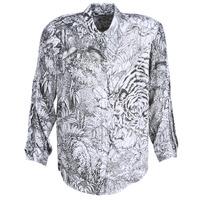 tekstylia Damskie Koszule Ikks BN12085-11 Biały / Czarny