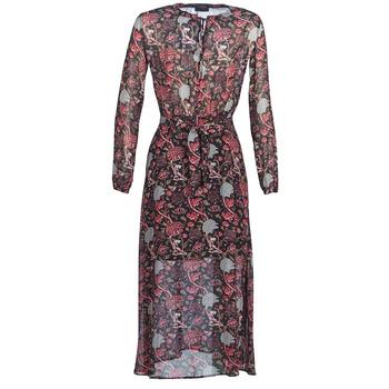 tekstylia Damskie Sukienki długie Ikks BN30065-02 Czarny / Czerwony / Szary