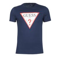 tekstylia Męskie T-shirty z krótkim rękawem Guess ORIGINAL Marine